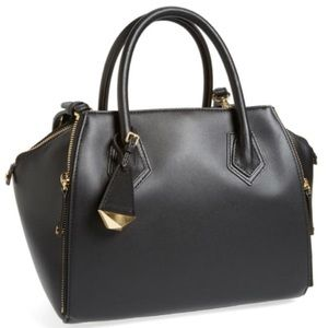 rebecca minkoff perry large satchel smooth leather